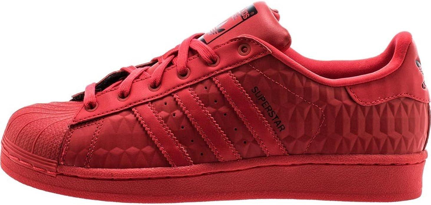 Adidas Superstar 1302 Triple Red EL I – Zapatillas Deportivas de niño Unisex s27526, DE La Bandera, (rayred/rayred/cblack), Rojo (22): Amazon.es: Zapatos y complementos