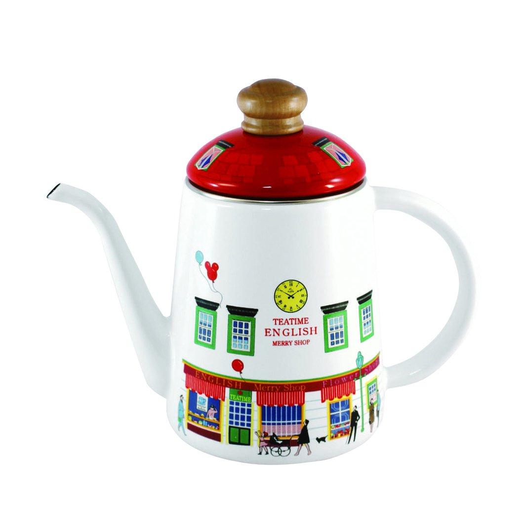 후지 법랑 후지호로 드립백 커피 포트 1L 11cm 메리 숍 MM-11CP-S