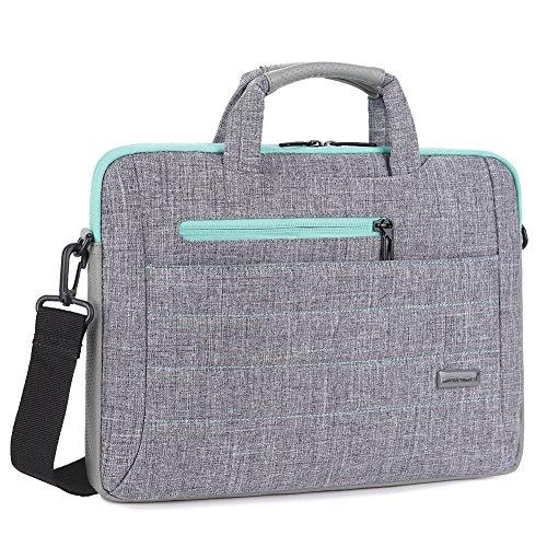 Brinch Multi functional Messenger Briefcase Grey Green