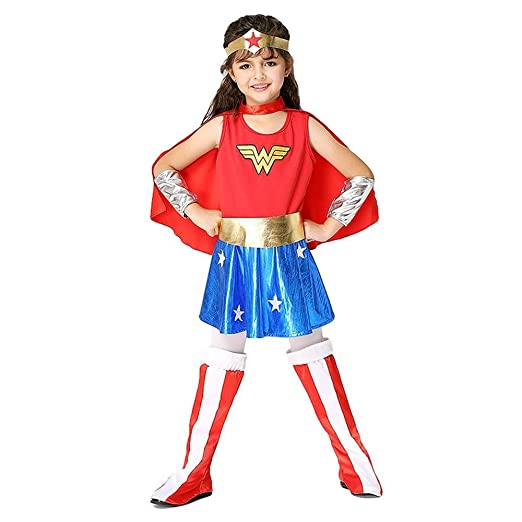 Tengda Hope Wonder Woman Disfraz Niños 3-8 Años Niñas Cosplay Ropa ...