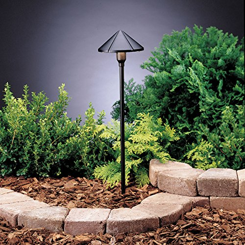 Groove Path & Spread 1-Light 12V, Textured Black ()
