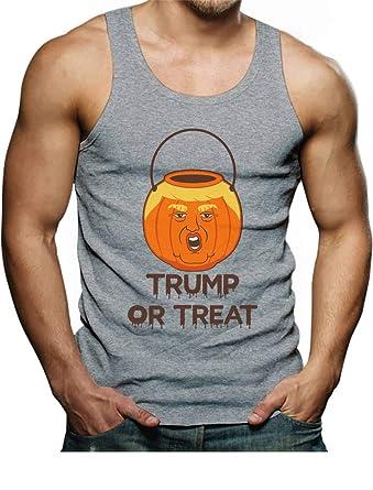 1166322a0f48 Amazon.com: Tstars - Trump Or Treat Donald Trump Pumpkin Halloween Trumpkin  Men's Tank Top: Clothing