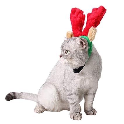 WEATLY Accesorios para Disfraces de Perros y Gatos de Navidad Accesorio de Gorra de Sombreros de