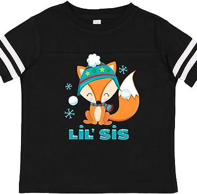 inktastic Christmas Fox Little Sis Toddler T-Shirt