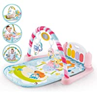 SUPER TOY 5 in 1 Baby's Piano Gym Mat Kick and Play Multi-Function