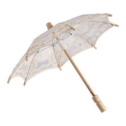 Encaje paraguas Vintage boda encaje bordado algodón puro Lady novia boda sombrilla paraguas decoración Photo Props