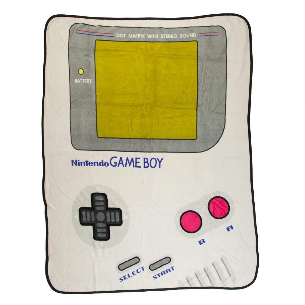 Nintendo BIOWORLD Game Boy Console Graphic Throw Blanket Plush Throw 48''X60''