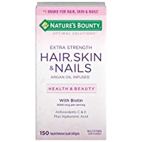 Extra Strength Hair Skin and Nails Vitamins by Nature's Bounty Optimal Solutions...