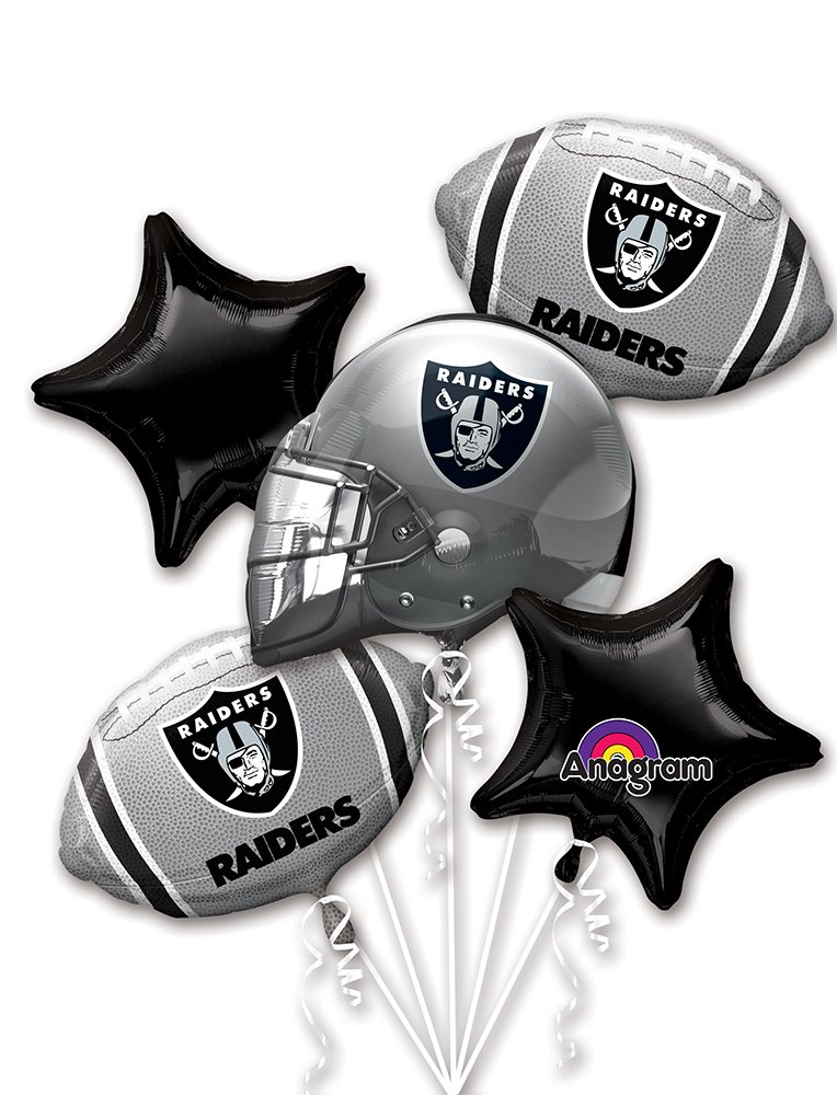Anagram Bouquet Raiders Foil Balloons, Multicolor