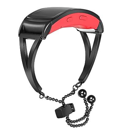 Amazon.com: Correa de reloj de acero inoxidable para mujer ...