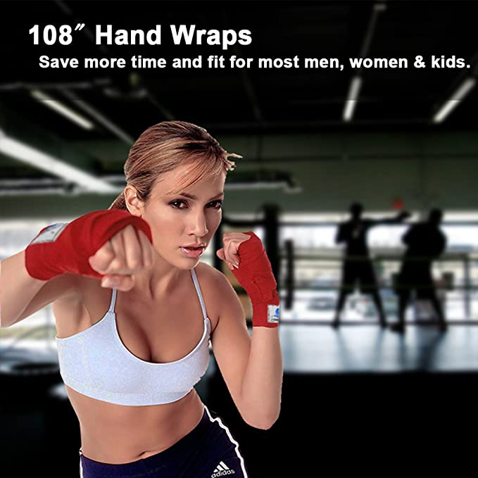 "108/"" ZOOBOO Advanced Sport Cotton Hand Wraps Breathable for comfort /& support"