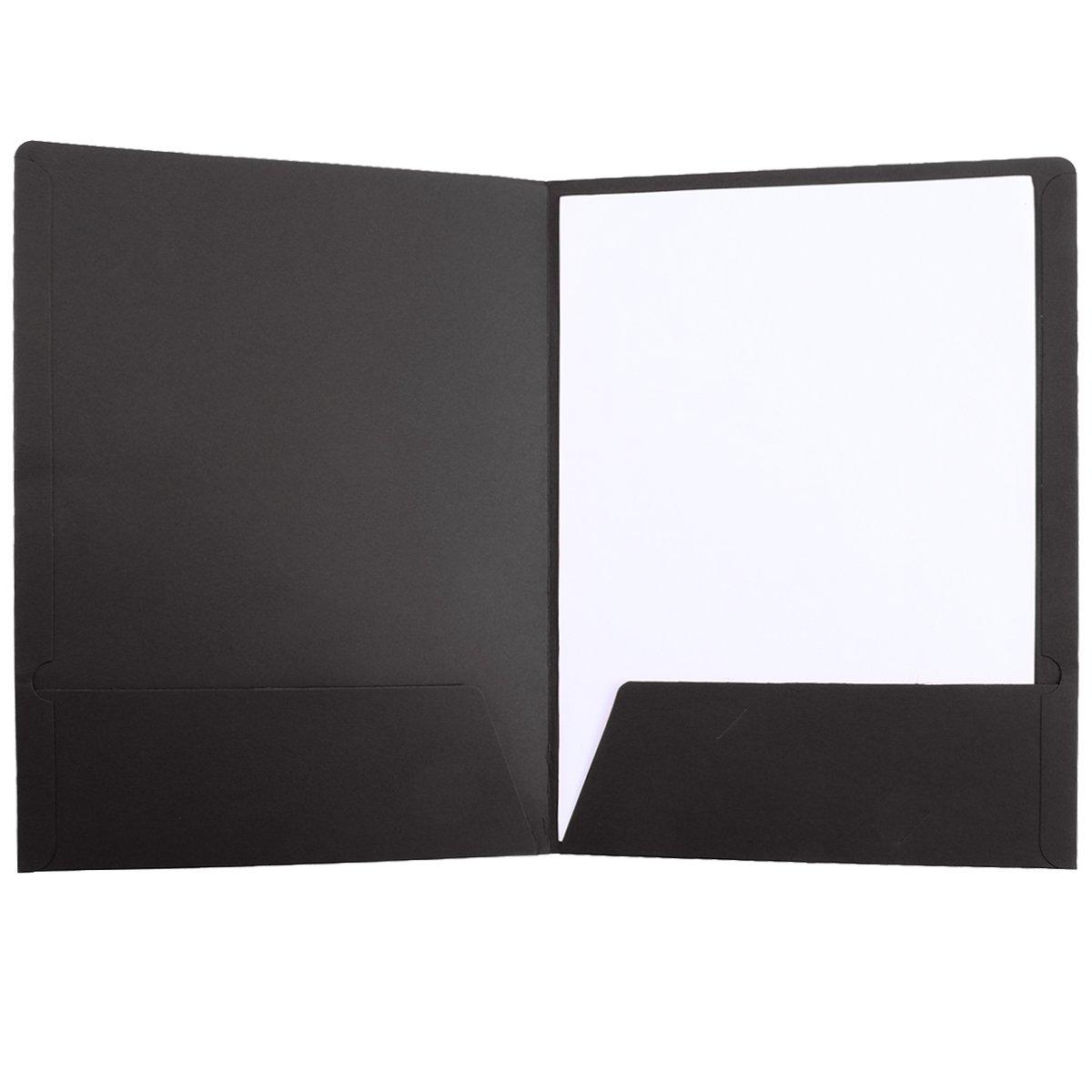TOYMYTOY 12 Pz A4 Carta Kraft File Holeder Presentazione Cartella Documenti Cartella File Progetto Ufficio Stazionario Nero