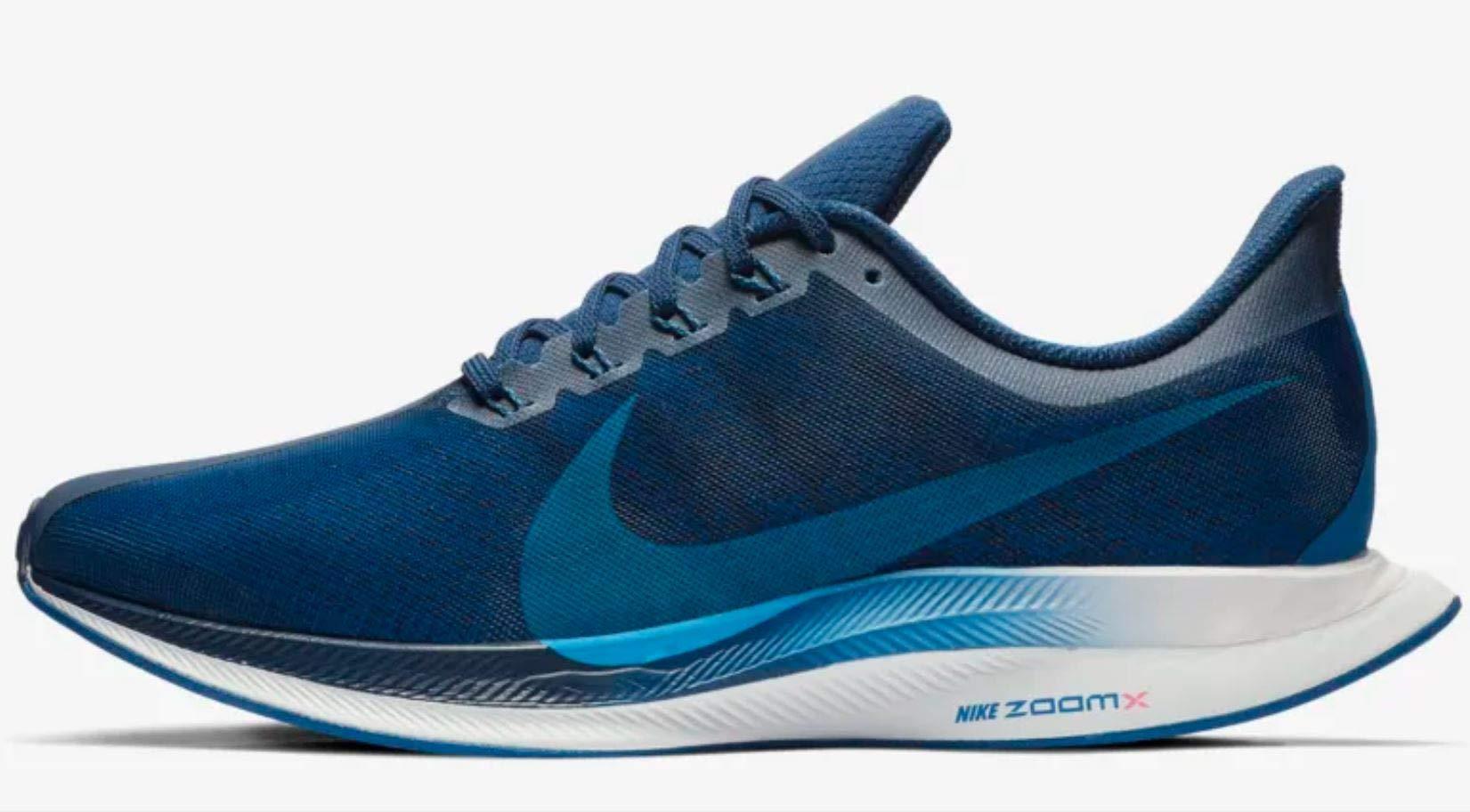 Nike Men's Air Zoom Pegasus 35 Turbo Running Shoes (12, Blue/White/Red)