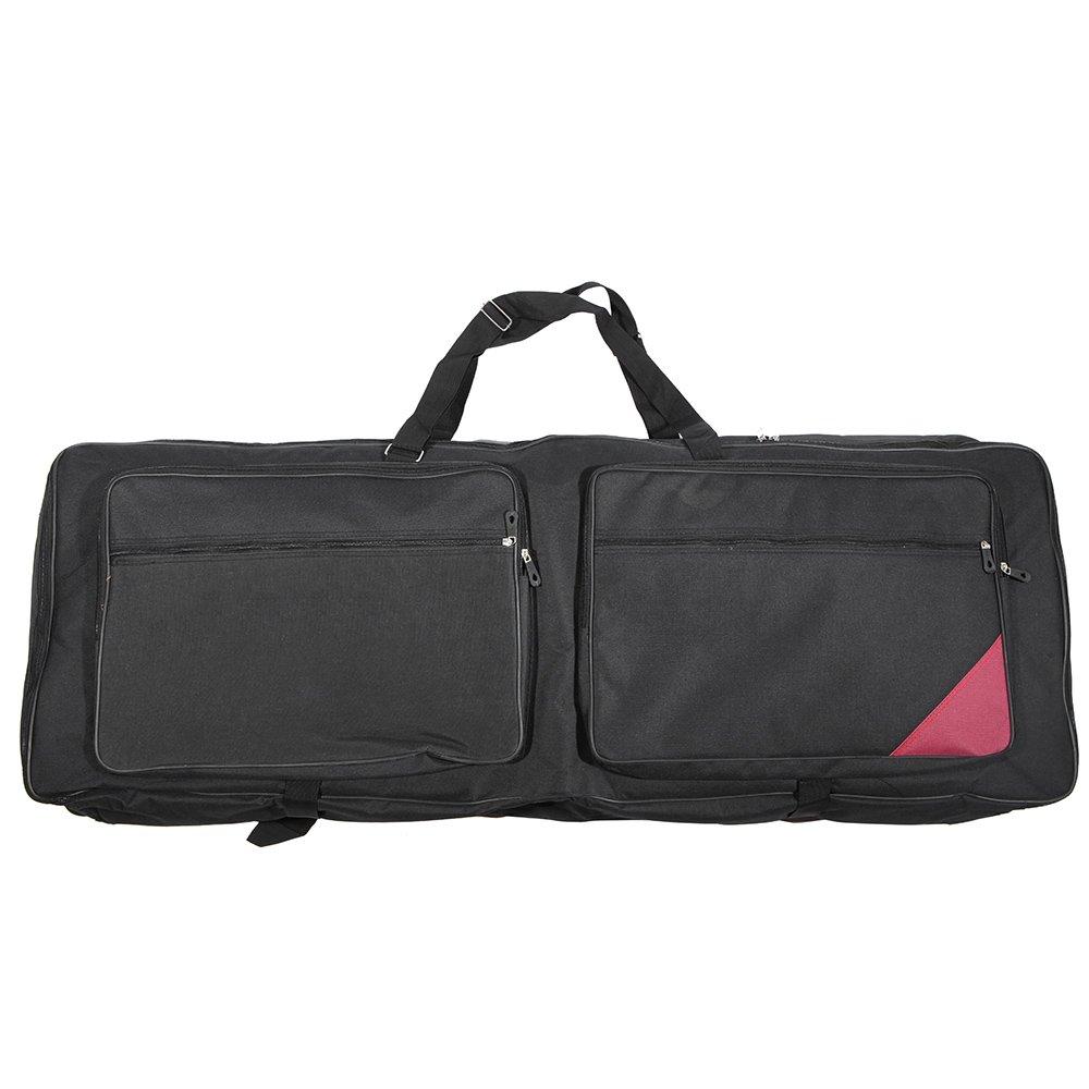 ammoon 73-Key 76-Key Keyboard Electric Piano Organ Gig Bag Soft Case 46.4'' * 16.5'' Durable 600D Cloth PE Foam Padded Dual Zipper