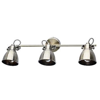 Spot Mural Plafonnier Style Industriel Avec 3 Lampes Orientables En