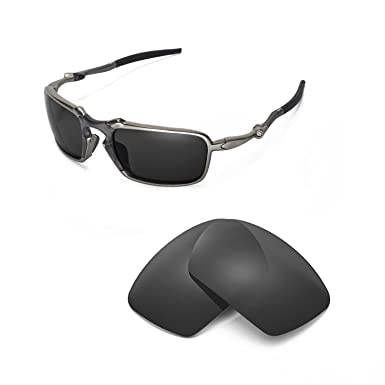 9ca7423ef8 Walleva Replacement Lenses Oakley Badman Sunglasses - Multiple Options  (Black - Polarized)