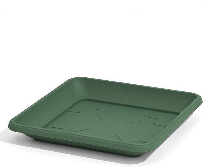 Prosper Plast Terra-Cotta Colore plastica piattino sottovaso Quadrato 22/cm Supporto per Vaso di Fiori