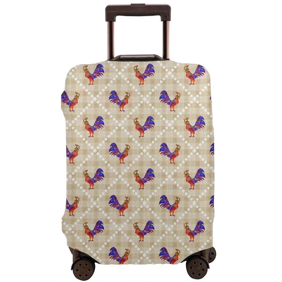 Luggage Cover Rooster Lattice Pattern Protective Travel Trunk Case Elastic Luggage Suitcase Protector Cover