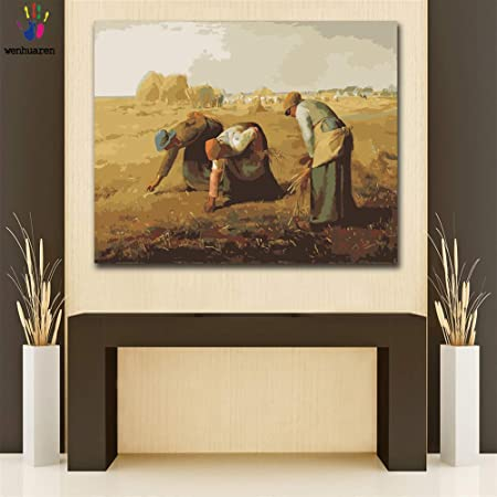 The Gleaners By Jean Francois Millet Painting Artwork Paint By Numbers Kit DIY