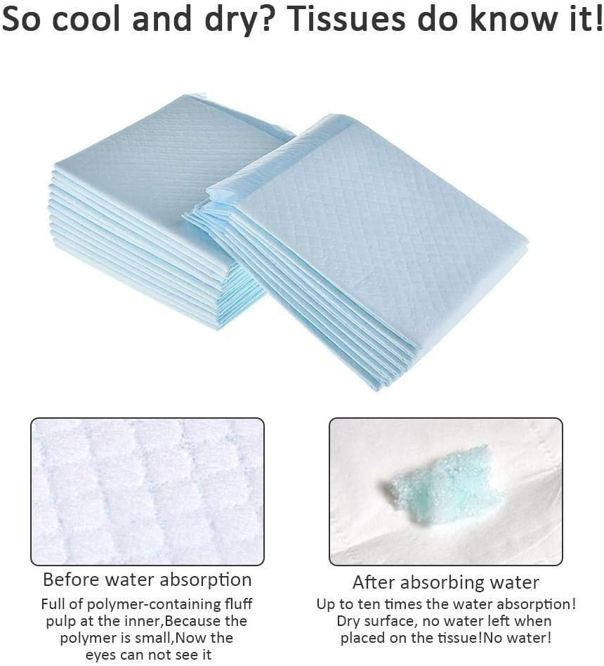20 Pack Nappy Changing Mat Disposable Baby Nappies Baby Urine Mat Waterproof Baby Sheets Breathable Portable Diaper Pads Incontinence Bed Pad Sheet Menstrual Period Care Pad