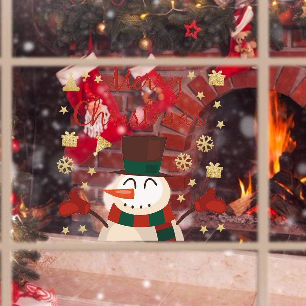 Etiqueta engomada de la ventana del copo de nieve de Navidad 1 Unidades Pegatinas de pared de invierno extra/íbles Pegatinas de pared de vidrio de Navidad Etiqueta de a/ño nuevo Decoraci/ón del hogar