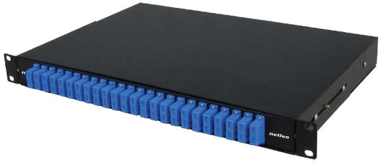 Cassetto ottico LC Duplex 12 porte 1U scarico
