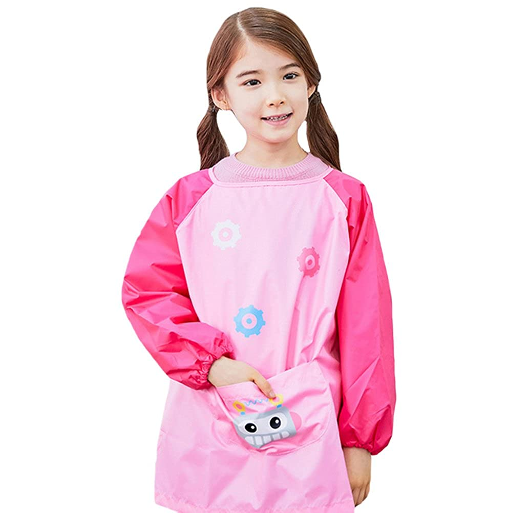 Tortor 1bacha Waterproof Baby Long Sleeve Apron Bib Kid Girl Boy Painting Art Smock Q15428