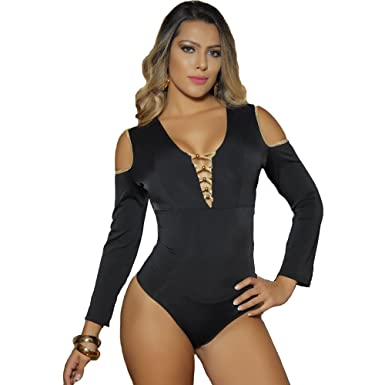 Aranza Blusa Faja Colombiana de Mujer Slimming Body Shaper Blouse Bodysuit Compression Black