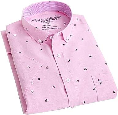dahuo - Camisa de Manga Corta para Hombre con Botones de ...