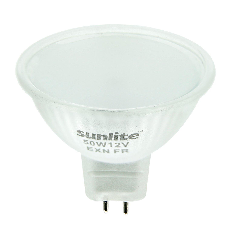 chic sunlite 50mr16 fr fl 12v 50 watt halogen mr16 gu5 3 based mini reflector bulb frost. Black Bedroom Furniture Sets. Home Design Ideas