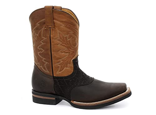 d249d8f0408 Grinders Frontier Brown Mens Western Cowboy Boots