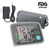 Blood Pressure Monitor Automatic Digital Upper Arm BP Monitor Automatically Measure Pulse Diastolic Systolic For Home Use 2 User Mode Fits Most Cuff FDA Approved ( Adapter Include)