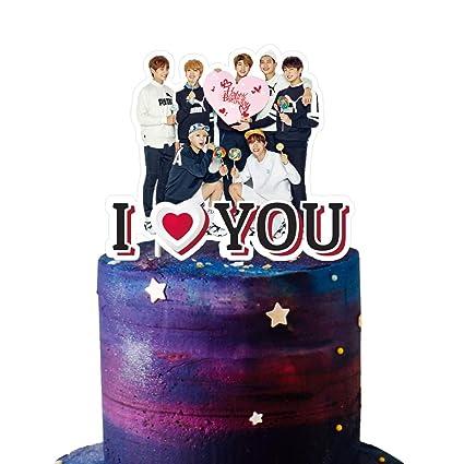 BTS Decoración para tarta de cumpleaños, suministros para ...