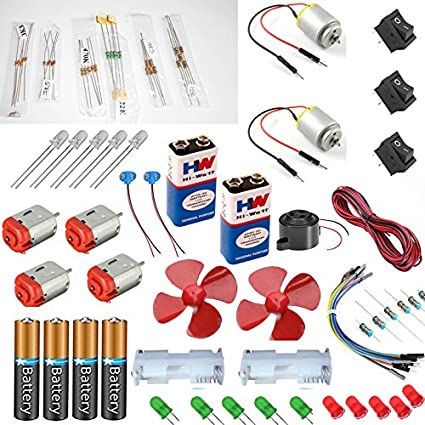 buy vyga 2 motor with jumber wire 7 types resistors 4 dc motor 2 rh amazon in
