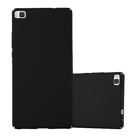 Cadorabo Funda para Huawei P8 en Metal Negro - Cubierta Protección de Plástico Duro Super Delgada e Inflexible con Antichoque - Case Cover Carcasa ...
