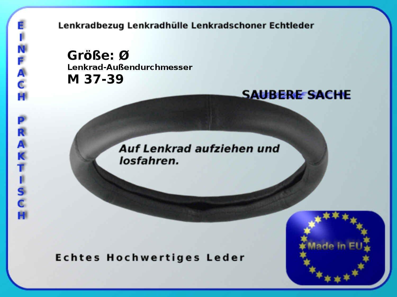 Lenkradh/ülle//Lenkradschoner// Gr M 37-39//echt Leder//Lenkradbezug