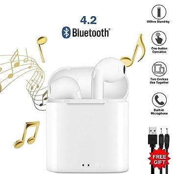 Auriculares Bluetooth, Auriculares inalámbricos. Auriculares inalámbricos In-Ear Bluetooth con reducción de Ruido HD. Compatible con iOS Android y Otros ...