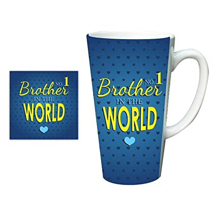 YaYa CafeTM Birthday Gifts For Brother No 1 In The World Latte Mug