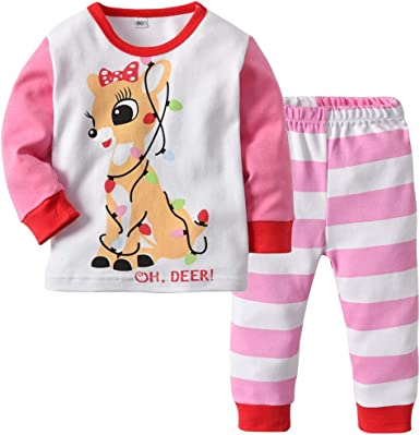 MIOIM Conjunto de Pijamas para bebé niña Conjunto de Ropa ...