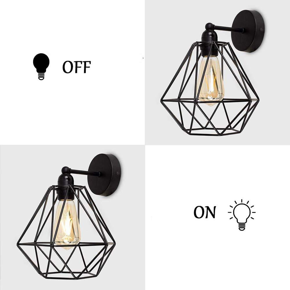 Vintage Metall Draht Kafig Lampenschirm Wandlampe Deckleuchte