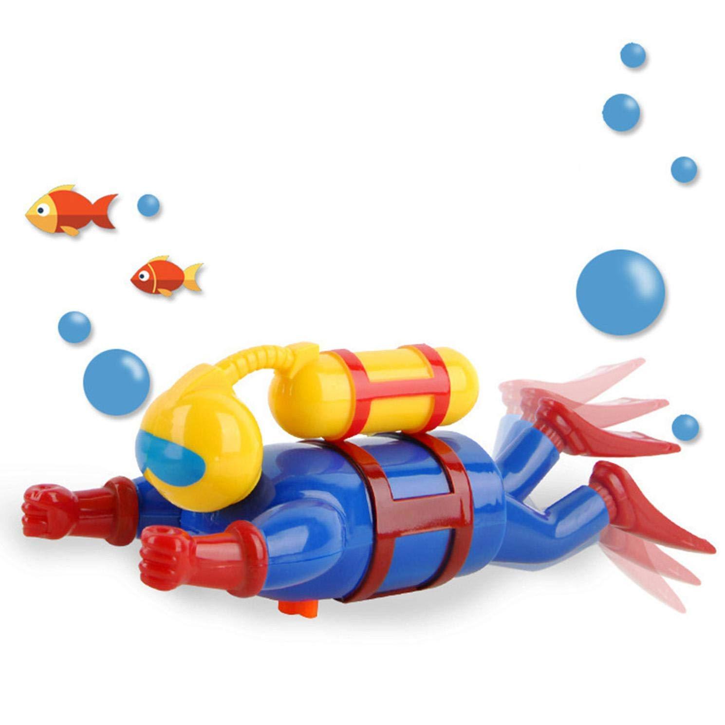 xiaoyamyi Migliore Bambino Giocattolo Bagnetto Vento Up Sommozzatore Nuoto Vasca Vasca da Bagno Carino Galleggianti Vento Up Scuba Diver Giocattoli per Bambini