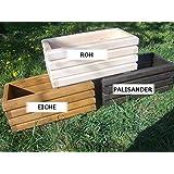 Sottovasi in legno per piante, ideali per giardino, balcone e terrazzo, già montati, colore: Noce