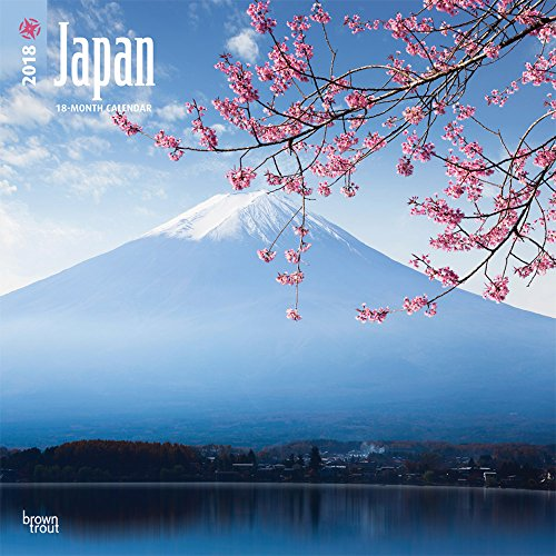 Japan 2018 12 x 12 Inch Monthly Square Wall Calendar, Scenic Travel Asia Cherry Blossoms Tokyo Kyoto Osaka (Multilingual Edition) by Browntrout