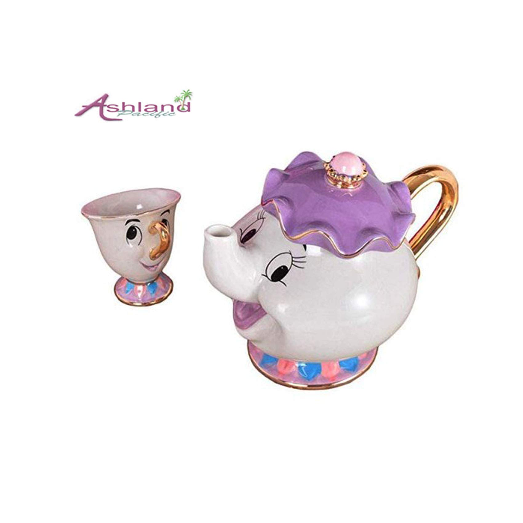 Ashland| Beauty and The Beast Mrs Potts Chip Tea Pot Cup One Set (Pot and Cup)