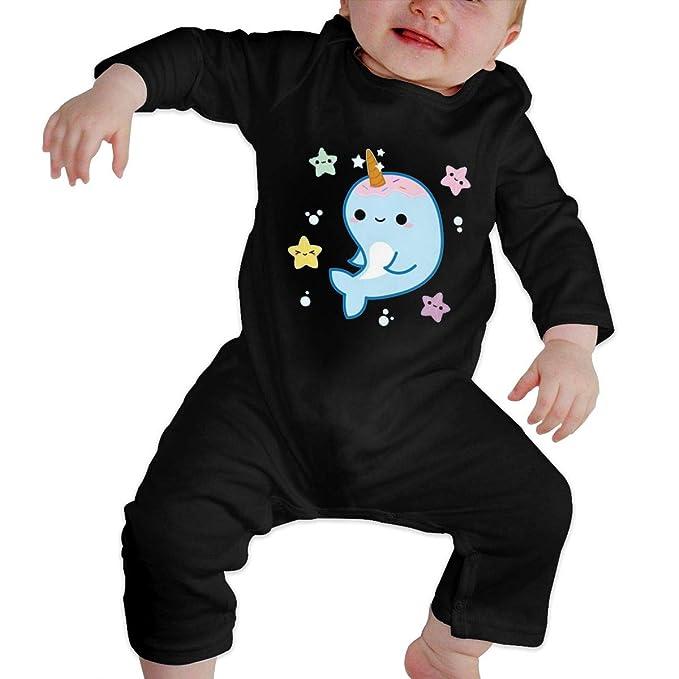 KAYERDELLE Fancy Narwhal Long Sleeve Unisex Baby Romper for 6-24 Months Boys /& Girls