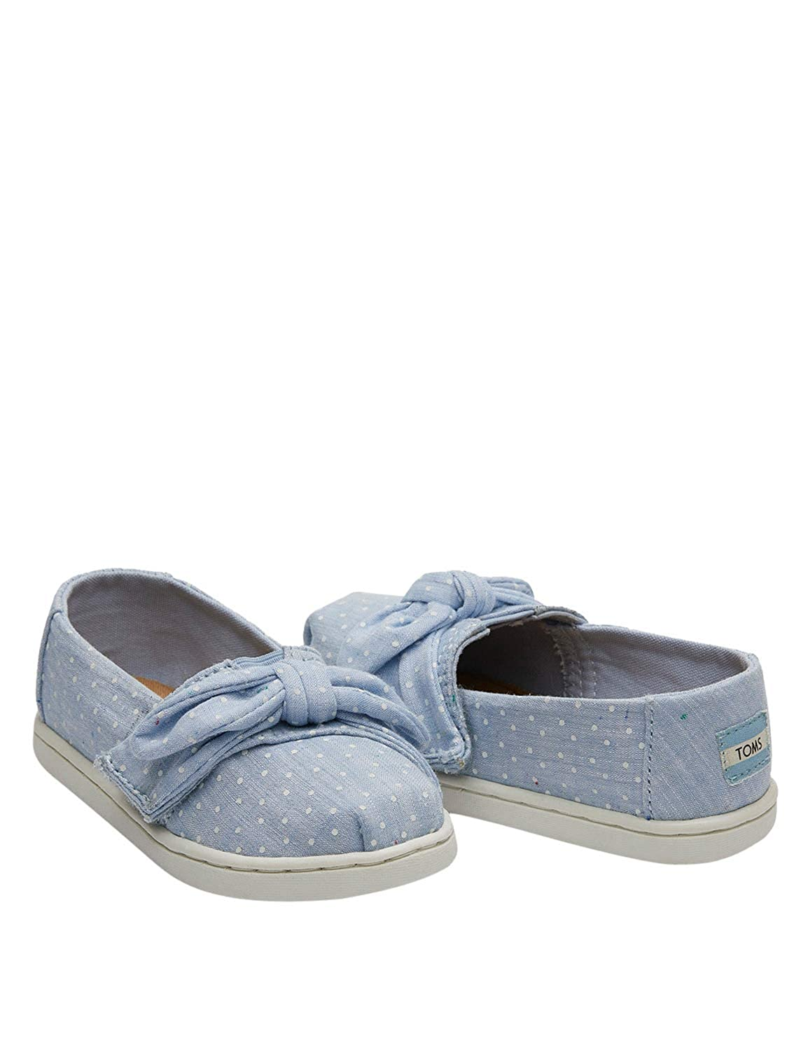 01ce1d9319144 TOMS Kids Baby Girl's Alpargata (Toddler/Little Kid) Light Bliss Blue  Speckled Chambray Dots/Bow 5 M US Toddler