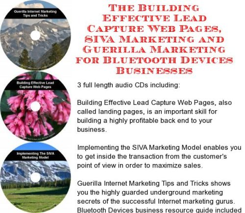 The Guerilla Marketing, Building Effective Lead Capture Web Pages, SIVA Marketing for Bluetooth Devices Businesses