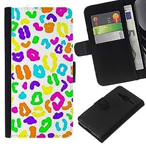 Caramelo Patrón Biología Blanca- la tarjeta de Crédito Slots PU Funda de cuero Monedero caso cubierta de piel Para Samsung Galaxy Core Prime