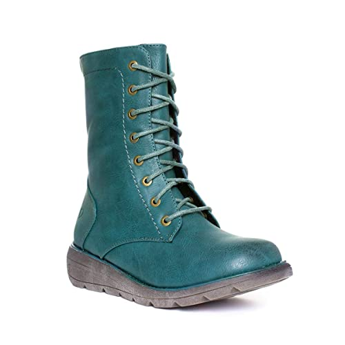 Heavenly Feet Womens Blue Lace Up Ankle Boot  Amazon.co.uk  Shoes   Bags 190c9ce86