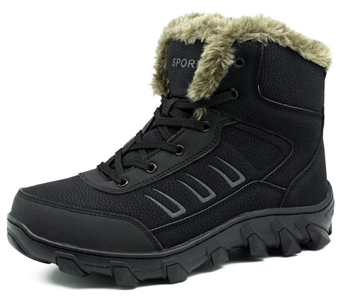 RSHENG Schuhe Stiefel Für Herren Schneeschuhe Wasserdichte Warme Wanderschuhe Martin Stiefel Warm Gefüttert Hohe Hilfe